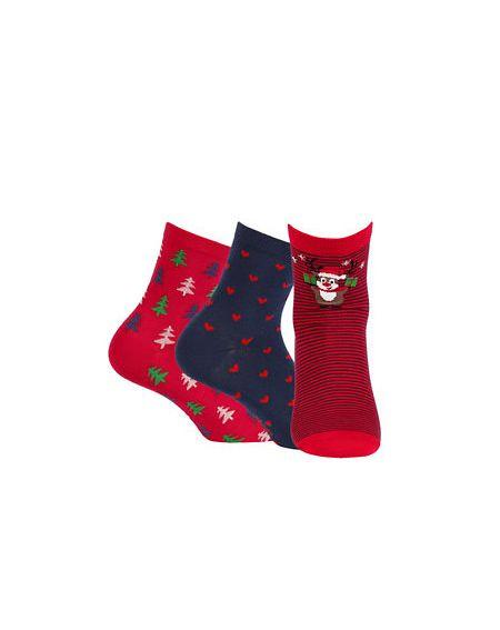 Socken Wola W84.55P Weihnachten Damen A'3 36-41