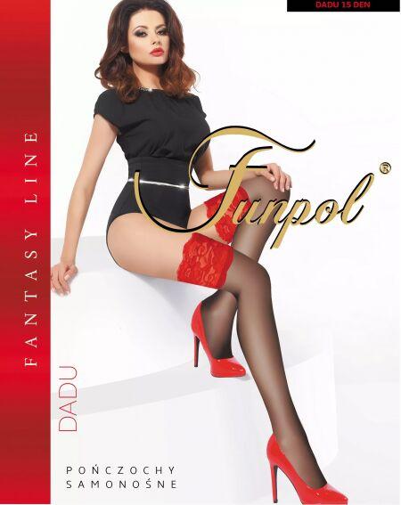 Funpol Dadu 15 den - red lace