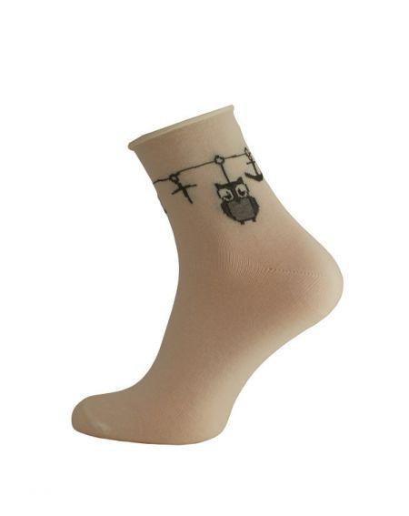 Calcetines de mujer Bratex D-052 Lady, Patrón 36-41
