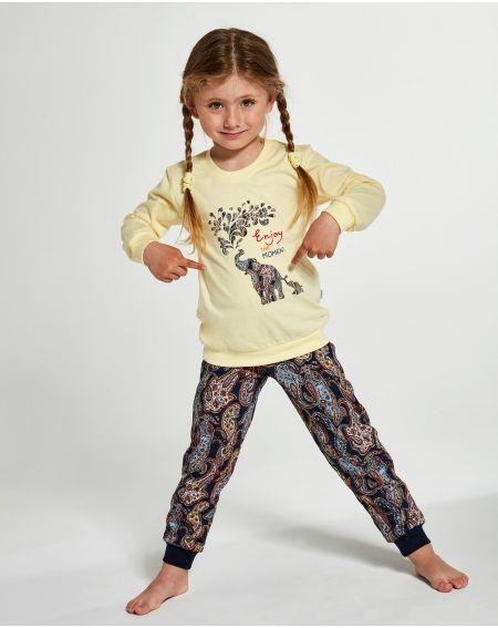 Piżama Cornette Young Girl 592/133 Elephants dł/r 134-164
