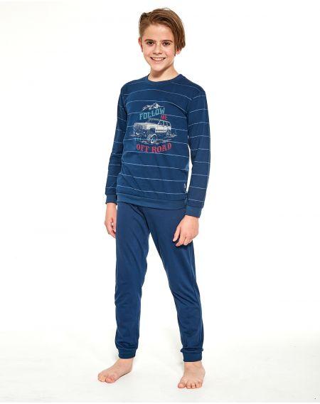 Piżama Cornette Young Boy 268/124 Follow Me dł/r 134-164