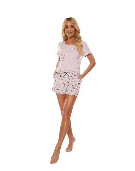 Piżama De Lafense 614 Mariposa kr/r S-2XL
