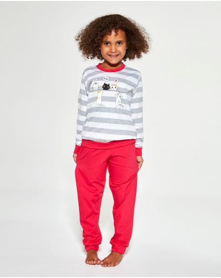 Piżama Cornette Kids Girl 474/149 Hello dł/r 86-128