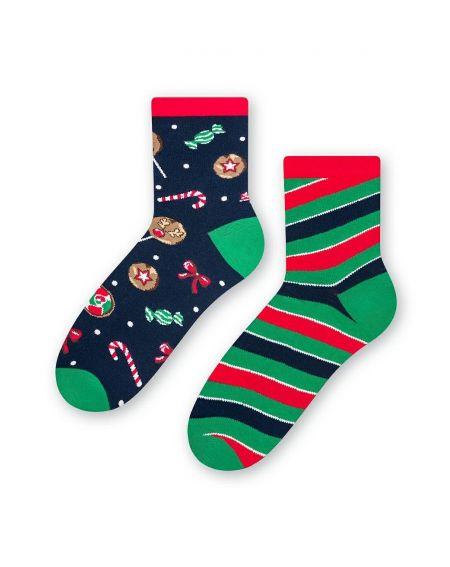 Steven socks art.136 Navidad asimétrico mujer 35-40
