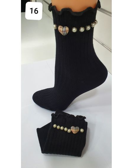 Chaussettes Magnetis 48 Perles / coeurs 21/22