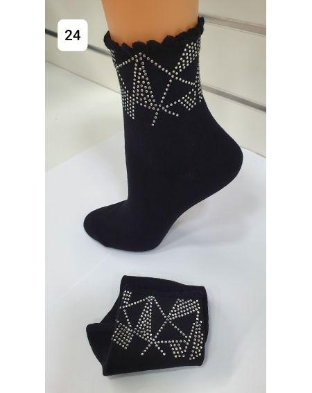 Magnetis 62 Zirkonia Dreiecke Socken
