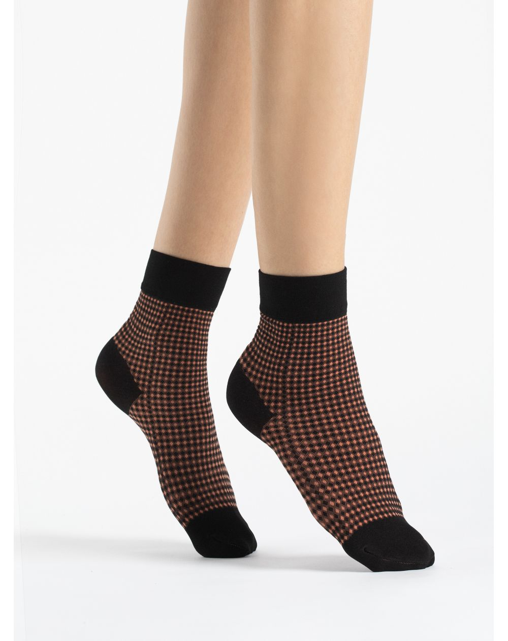 Fiore CROQUET- Socks 40 den papaya \\ Socks 40 den