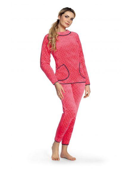 Piżama De Lafense 376 Melanie dł/r S-2XL