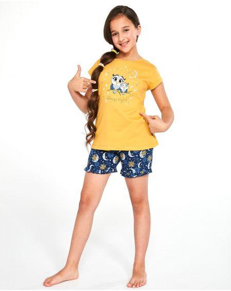 Piżama Cornette Young Girl 489/86 Owls kr/r 134-164