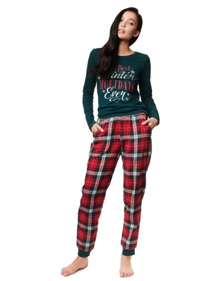 Pyjama Henderson Dames 39221 Zev long / y S-XL