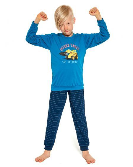 Cornette Kids Boy 478/117 Dozer Truck long pajamas 86-128