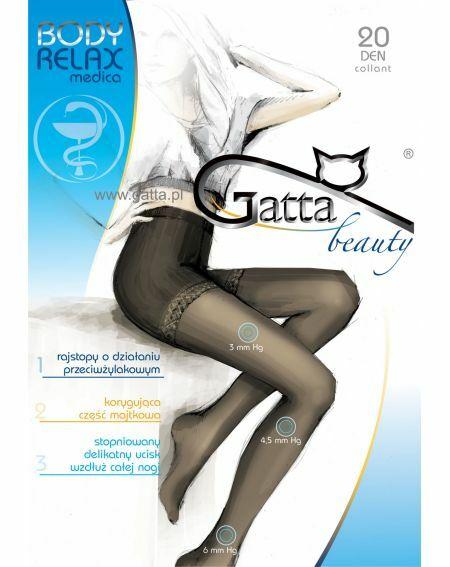 Gatta Body Relax Medica Tights 20 den 5-XL