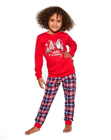 Cornette Young Girl 592/147 Gnomes pajamas long 134-164