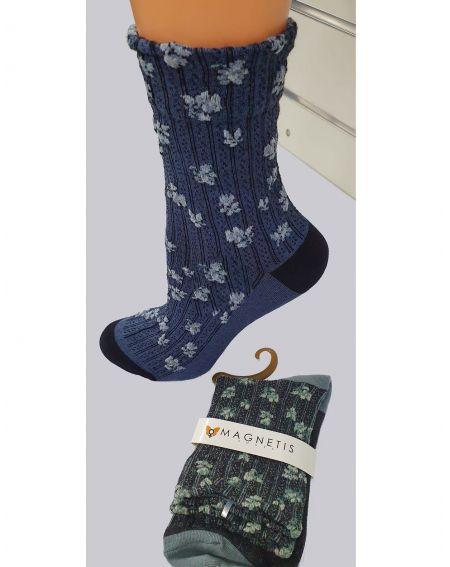 Socks Magnetis 63 Stripes / flowers 21/22