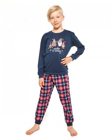 Piżama Cornette Young Boy 966/122 Gnomes dł/r 134-164