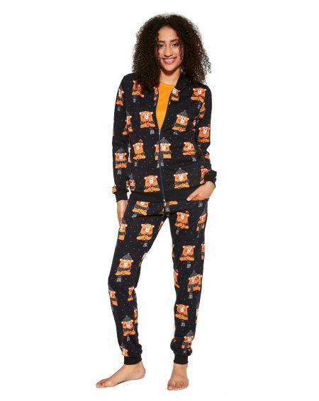 Cornette 465/292 Bear 2 length / r three-piece pajamas for women