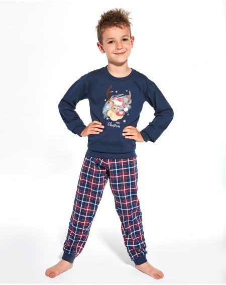 Piżama Cornette Young Boy 966/113 Reindeer dł/r 134-164