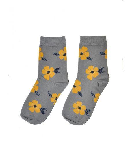 Skarpety Magnetis 77 Yellow Flowers 21/22