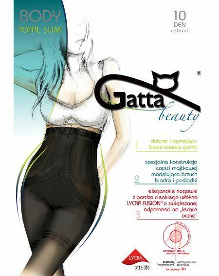 Gatta Body Tights Total Slim Fusion 10 den 2-5