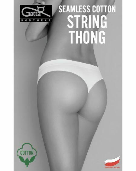 Stringi Gatta Seamless Cotton Thong 41639