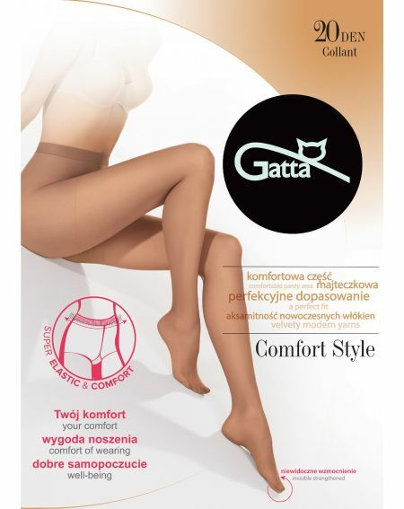Rajstopy Gatta Comfort Style 20 den 5-XL