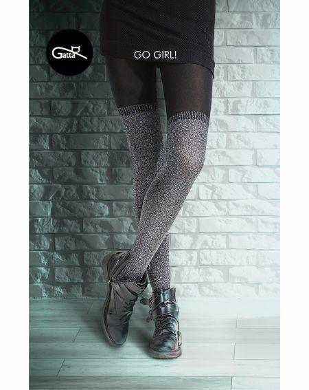 Rajstopy Gatta Go Girl! Collant Lurex 2-4