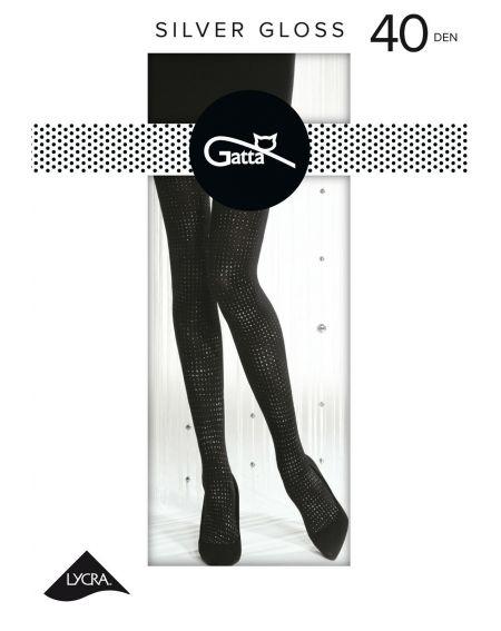 Gatta Tights Silver Gloss wz.02 40 den 2-4
