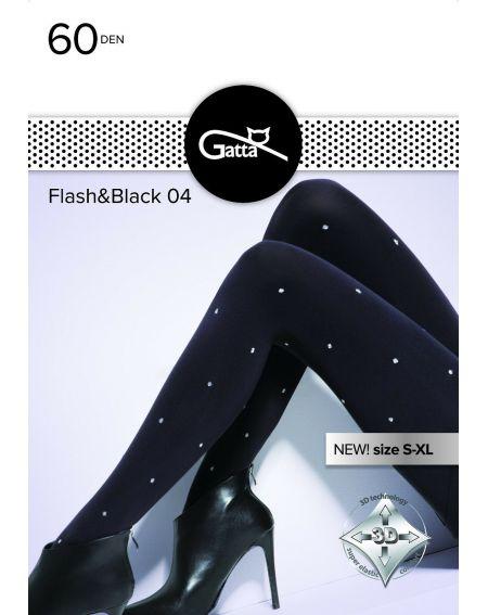 Gatta Flash & Black Strumpfhose wz.04 60 den 5-XL