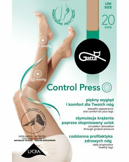 Gatta Control Press Kniestrümpfe 20 den