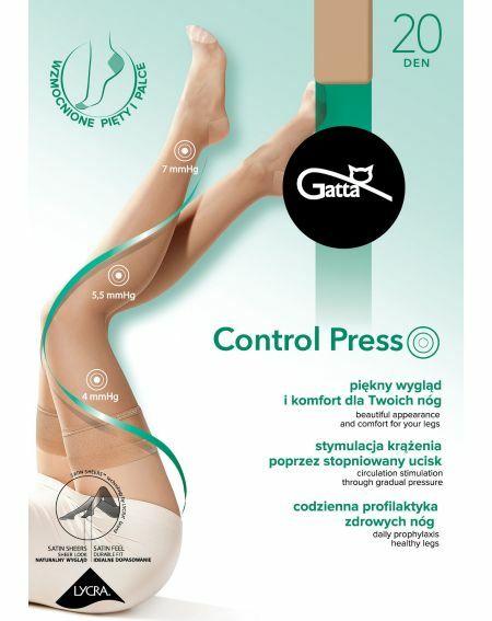 Gatta Control Press Strümpfe 20 den 1-4