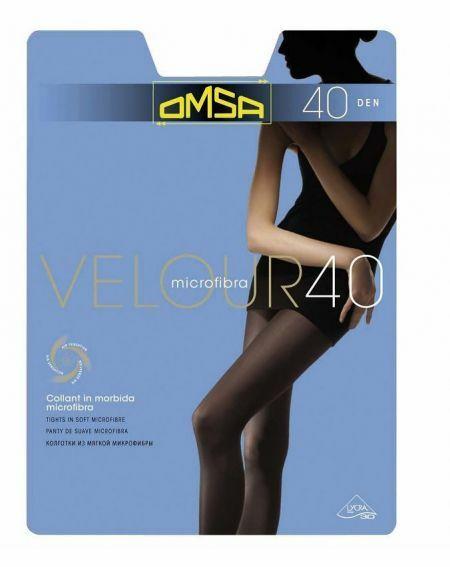 Omsa Velourstrumpfhose 40 Denier 5-XL