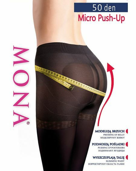 Rajstopy Mona Micro Push-Up 50 den 2-4