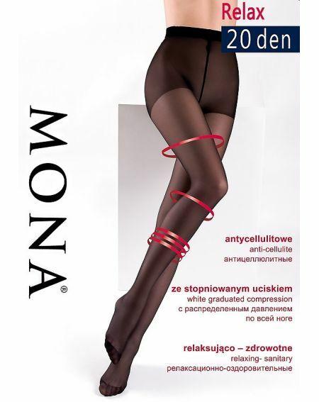 Mona Relax Strumpfhose 20 den 5-XL