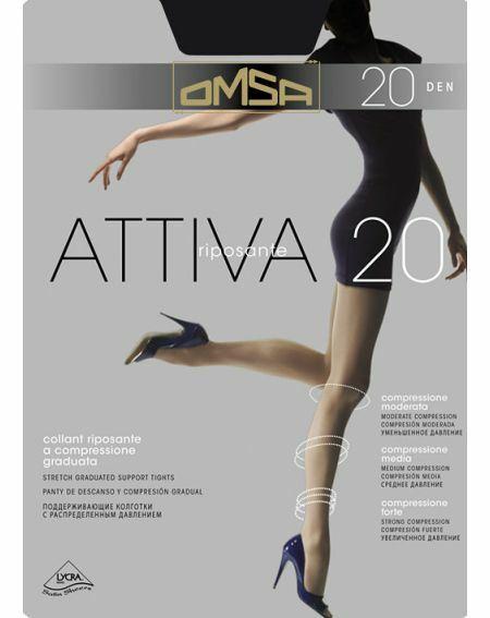 Collant Omsa Attiva 20 deniers 6-XXL