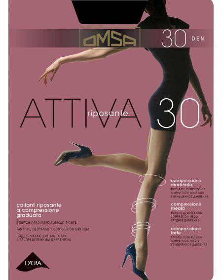 Omsa Attiva Strumpfhose 30 den 2-5