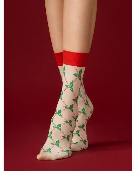 Fiore HO HO HO - set di 3 modelli di calzini