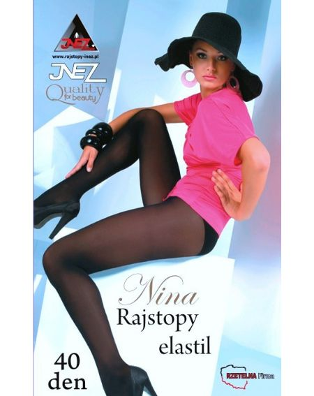 Rajstopy Inez Nina 40 den 4-XL