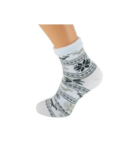Bratex 037 Women Frotta socks, rolled up for women, Pattern 36-41